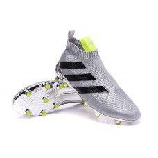 online retailer ab2a3 9e051 Shop Online Botas De Futbol Adidas Mujer ACE 16+ Purecontrol FG AG Para  Plateado