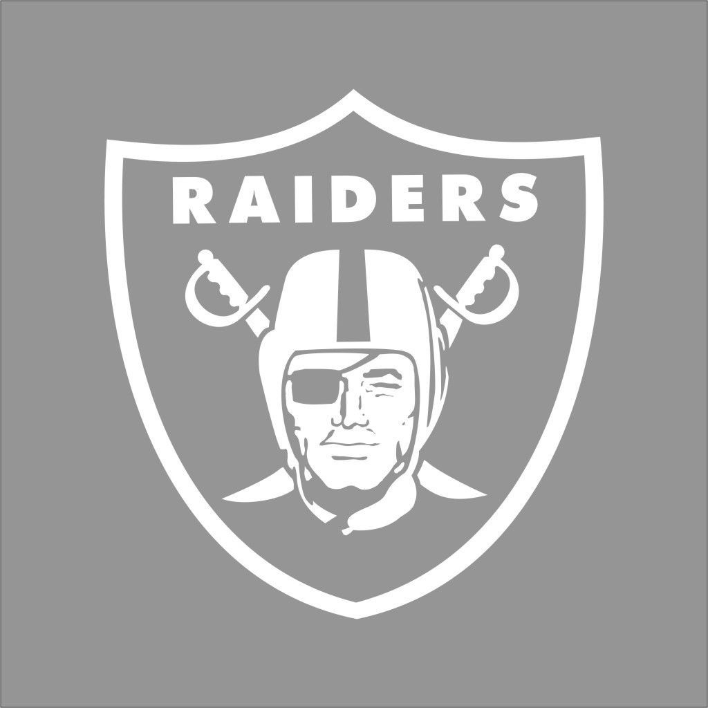 Oakland Raiders Nfl Team Logo 1 Color Vinyl Decal Sticker Car Window Wall Oakland Raiders Logo Football Decal Nfl Teams Logos