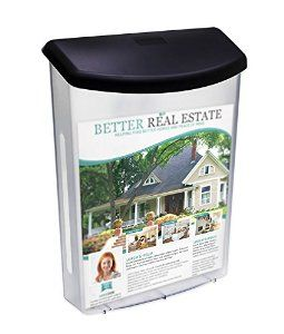 Amazon.com : Source One Premium Large Outdoor Realtor Style Brochure Holder (S1-ODBH-BLK LID) : Office Products