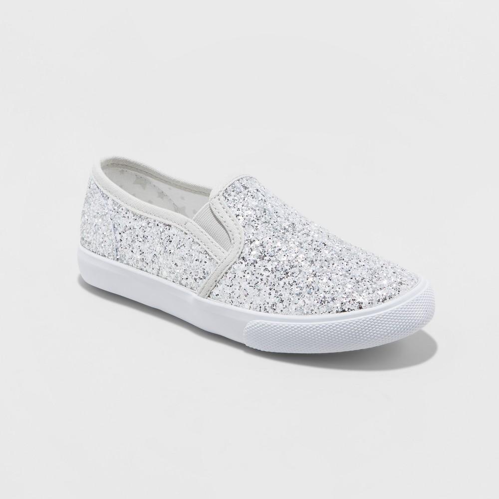 34426f0740dd Girls' Samora Slip On Glitter Sneakers - Cat & Jack Silver 3 ...