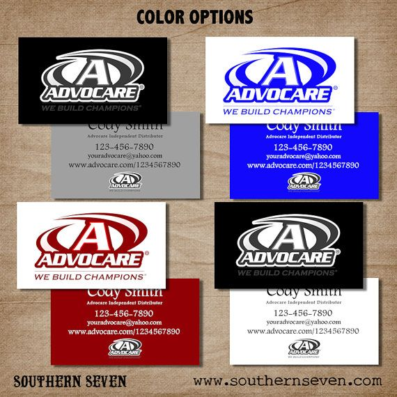 Advocare Business Card design, 500 Full Color professionally ...