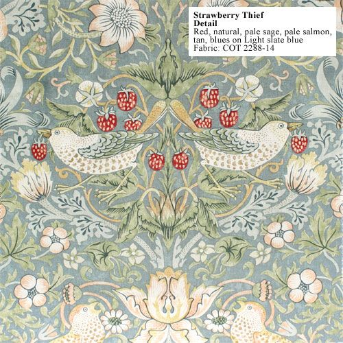 William Morris Wallpaper The Strawberry Thief Historicstyle