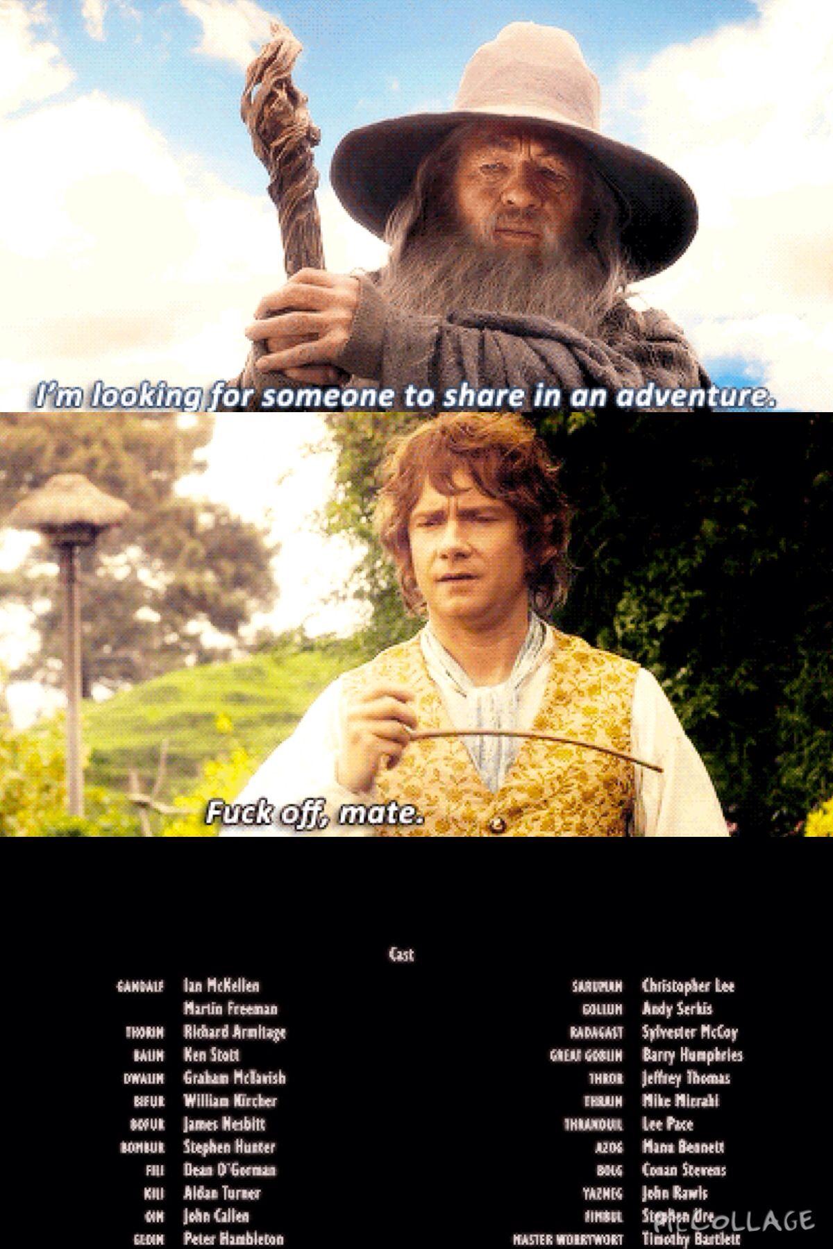 Hahahahaha #hobbit #bilbo #gandalf #lol