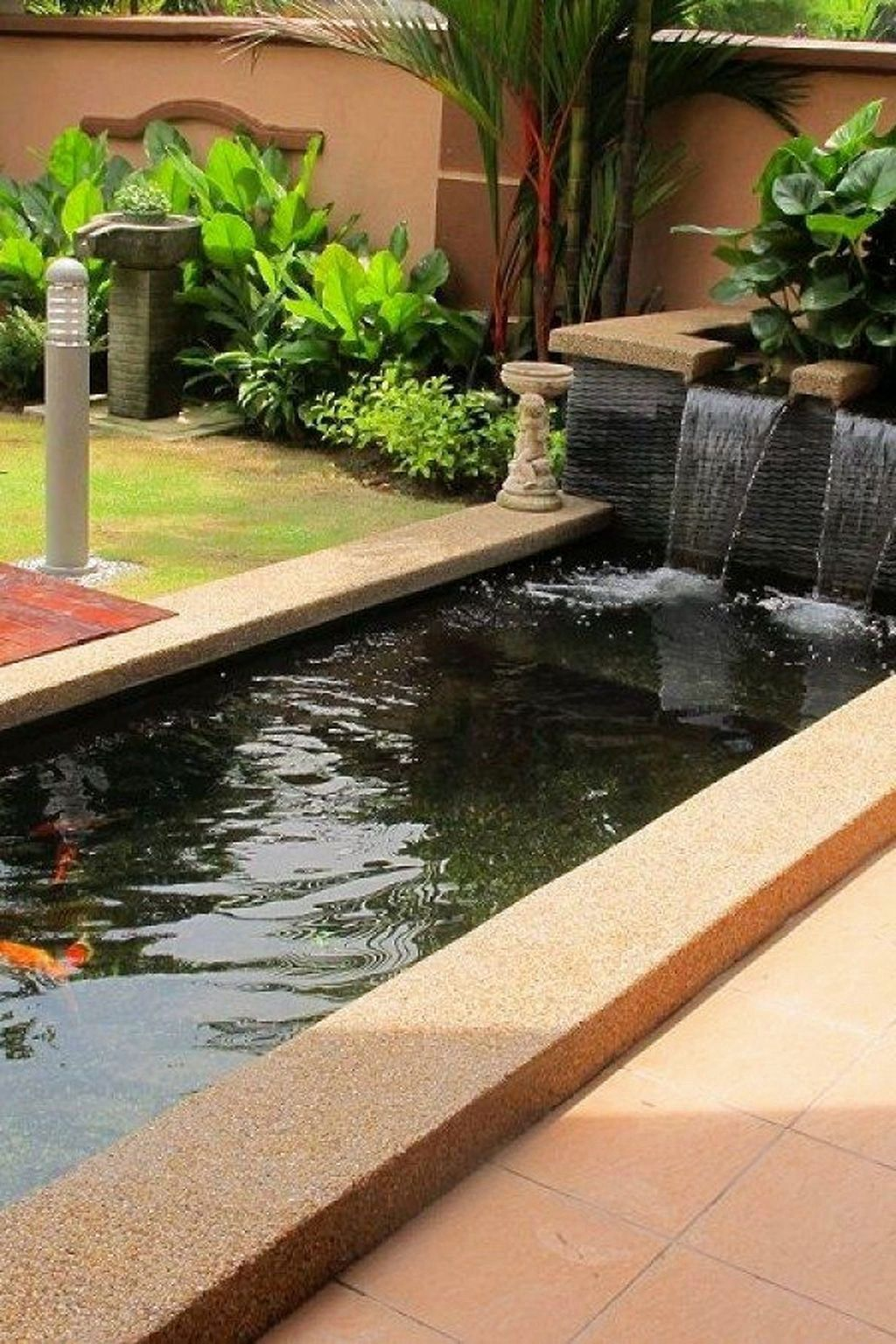 45 Favourite Pond Garden Ideas For Beautiful Backyard Pondgardenideas Beautifulbackyardgarden In 2020 Koi Pond Design Pond Design Ponds Backyard Diy backyard koi pond