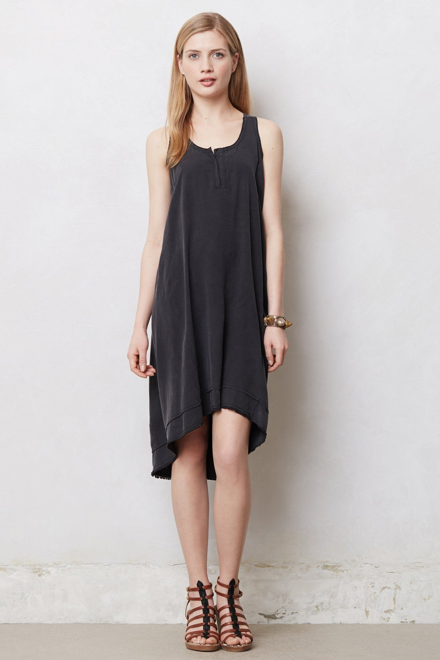 Washed silk swing dress anthropologie coveting