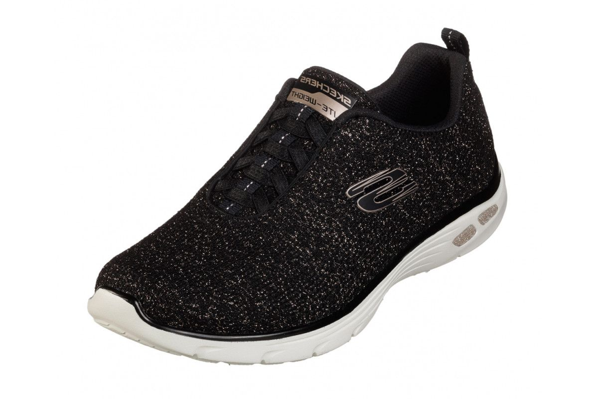 ladies skechers memory foam trainers
