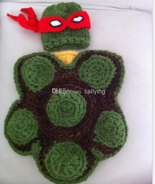 Retail Baby Crochet Teenage Mutant Ninja Turtles Hat Diaper Cover