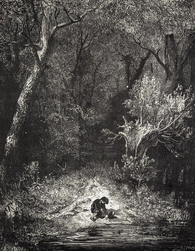 Gustave Doré Le Petit Poucet : gustave, doré, petit, poucet, Petit, Poucet, Gustave, Dore,, Woodcut, Illustration