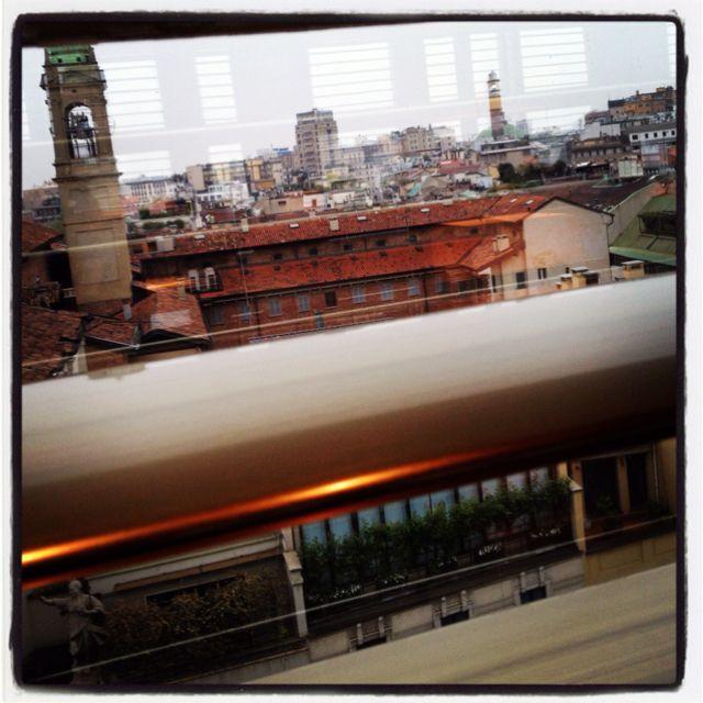 vista sui tetti di Milano @Armani Hotel