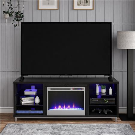 Ameriwood Furniture Lumina Fireplace Tv Stand For Tvs Up To 70