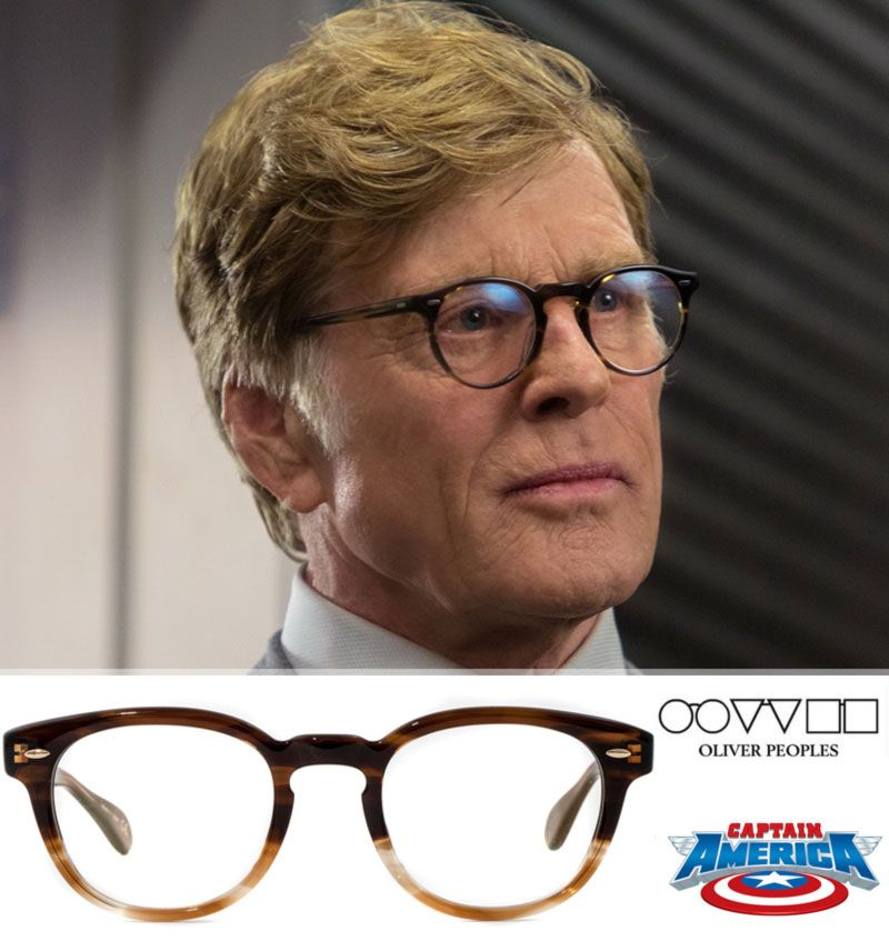 3cdd8a123a Robert Redford in Captain America wears Gregory Peck (Cocobolo) Oliver  Peoples Glasses