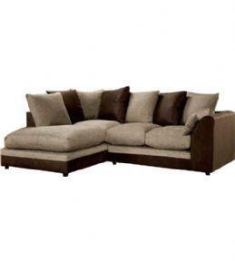 Dylan Cream Brown Fabric Corner Sofa Uk Leather Corner Sofa Corner Sofa Uk Sofa Uk