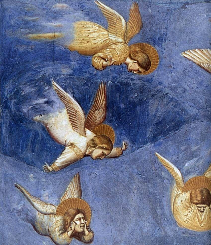 Giotto, Lamentation detail, Scrovegni Chapel, Padua http://www.friendsofart.net/en/art/giotto-di-bondone/no.-36-scenes-from-the-life-of-christ:-20.-lamentation-(detail)