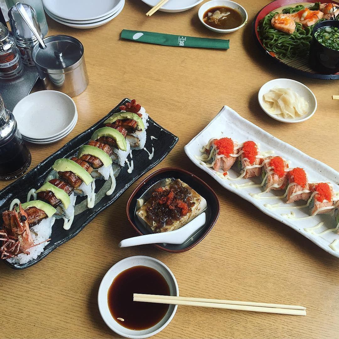 Jazziemints On Instagram Sushi Lunch With The Bff Mayjank At Sushi Tei Jazzieloves Sushi Phoenixroll Aburi Pitantofu Sob Sushi Lunch Lunch Sushi
