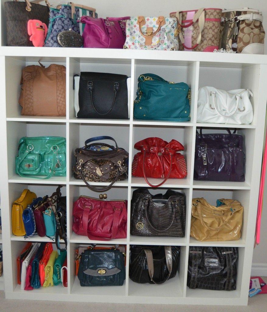Bust of handbag storage ideas storage ideas pinterest - Purse organizer for closet ...