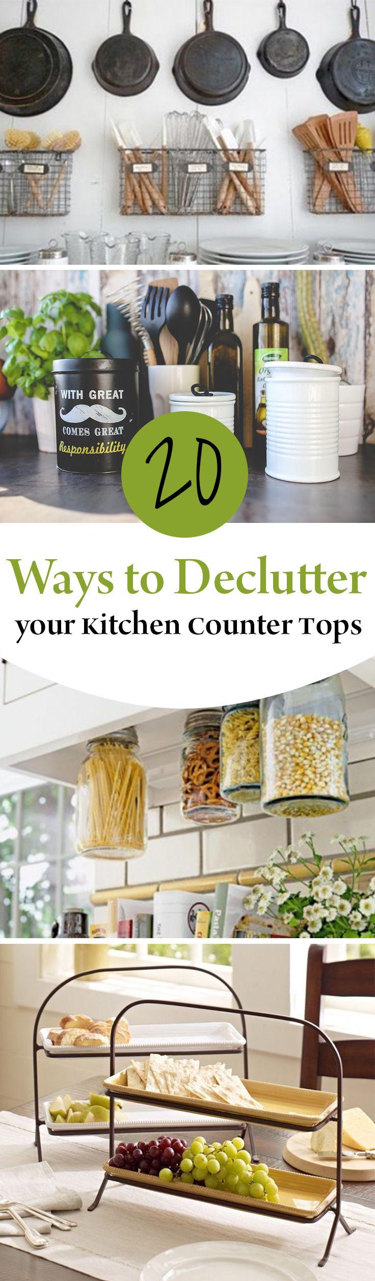 10 Ways To Declutter Your Kitchen Countertops. Organization ...