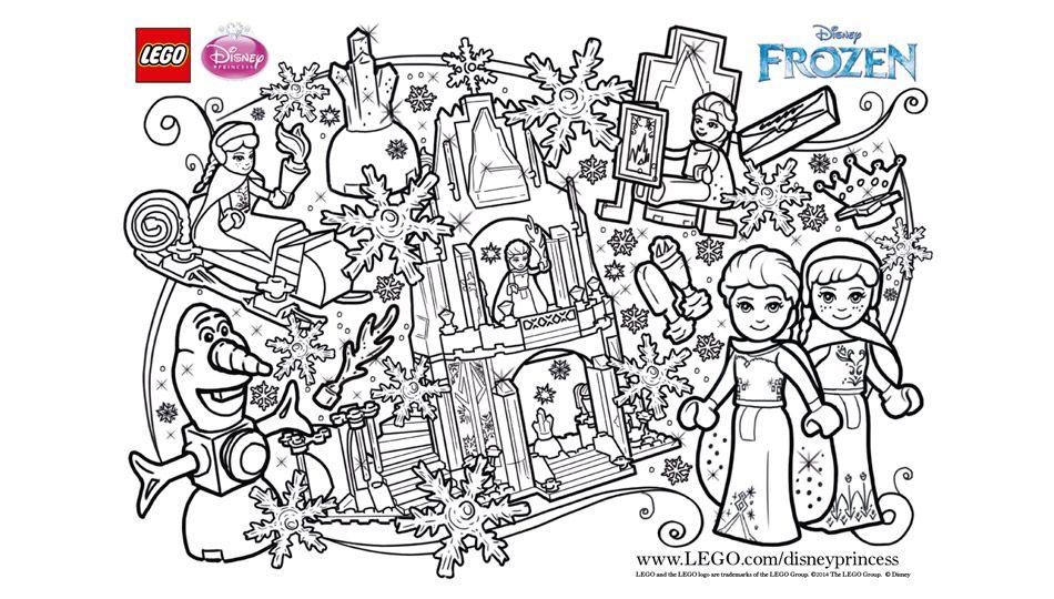 Lego Frozen Fun Coloring Sheet