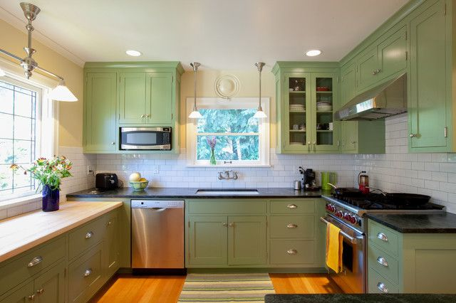 17 Best images about Kitchen ideas on Pinterest | Green cabinets, Kashmir  white granite and Countertops
