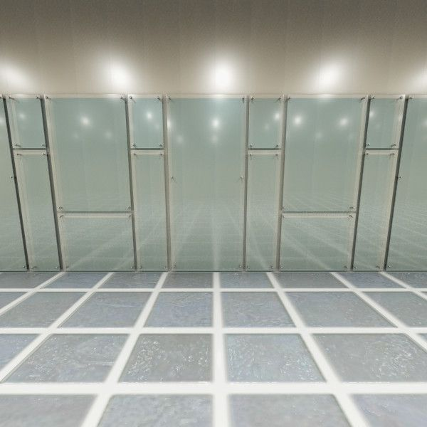 Glass wall panel 3d model glass panel wall system 1 for Outdoor glass wall panels