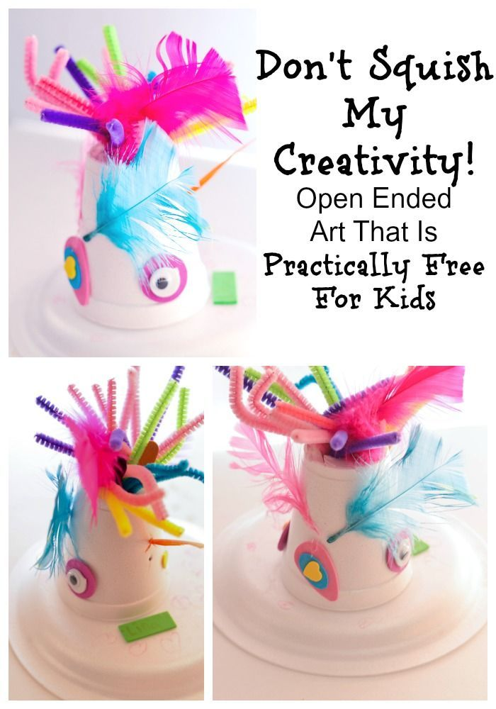 Don T Squish My Creativity Open Ended Art That Is Practically Free