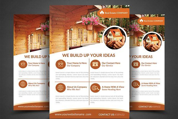 real estate flyer templates by afzaalgraphics on creativemarket