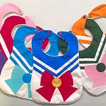 NEW Sailor Moon Baby Bib - Baby Shower gift - Cosplay | Geekery ...