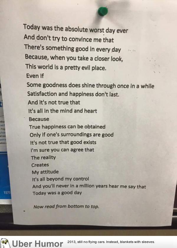 good is reversed bad