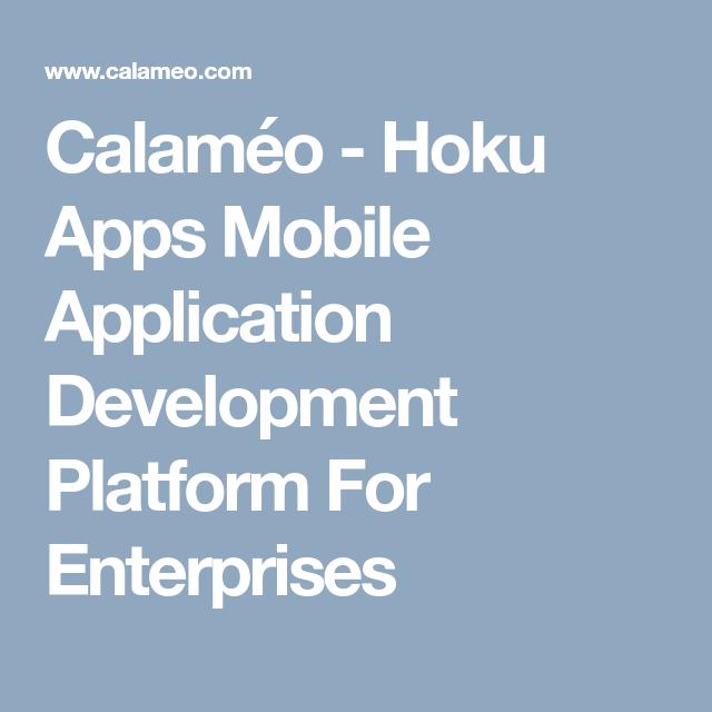 Hoku Apps Mobile Application Development Platform For