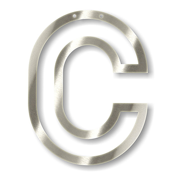 Acrylic Silver Mirror Bunting Letter C Lettering Letter C Acrylic Letters
