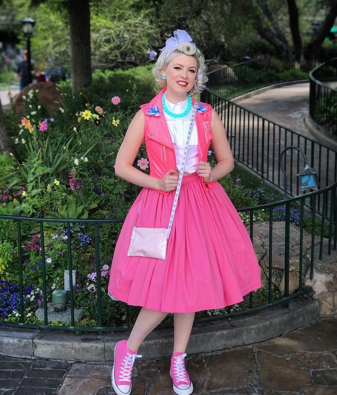 Disney Friendship Dress Cinderella: Pink Dress Cinderella Dapper Rockabilly Disneybound At