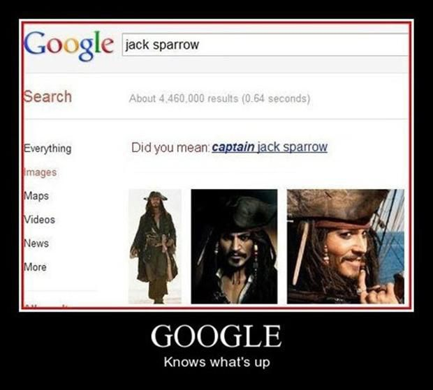 It's CAPTAIN Jack Sparrow thank you very much
