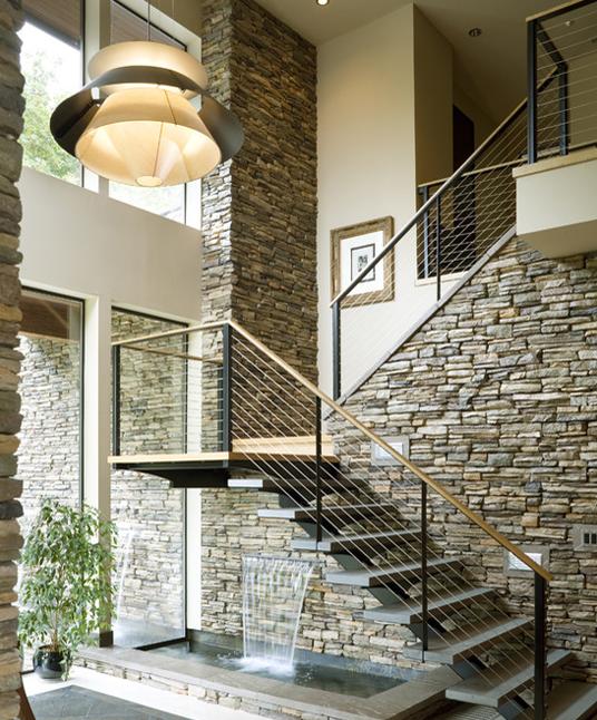 Innen Und Außen Bieten Schiefer Treppen Viele Gestaltungsmöglichkeiten.  Durch Die Konstruktion Der Schiefer Treppen Lässt