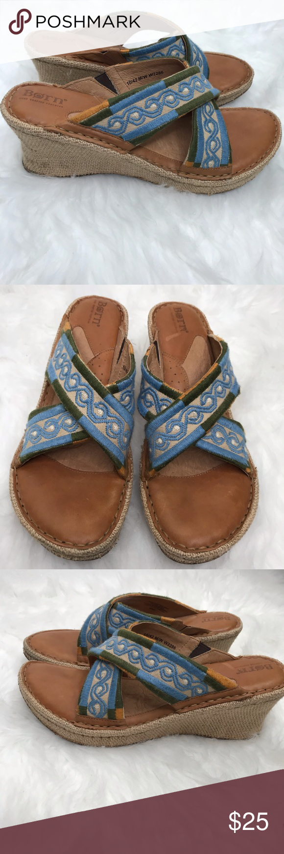764cf9f4c952 Born Wedge Slip Ons Size 10 Good Used Condition Gently Used Born Shoes  Wedges