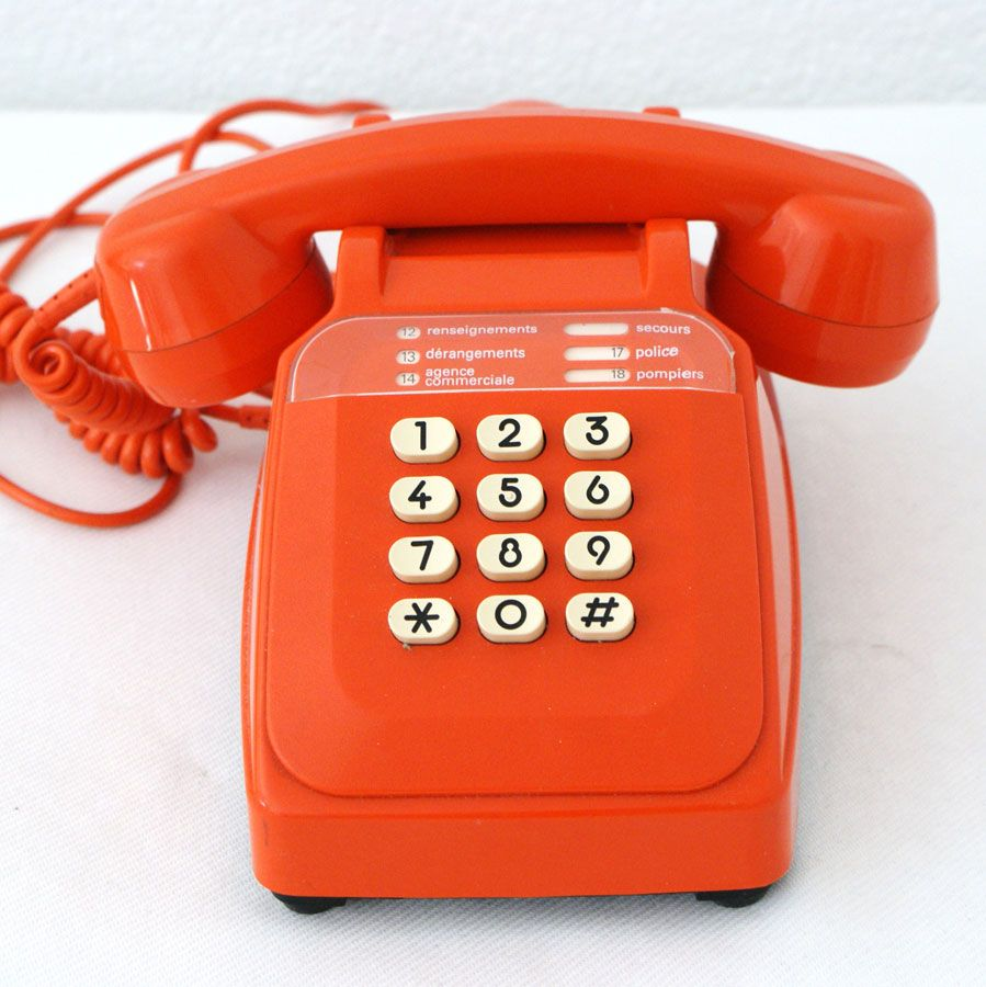 t l phone r tro touches orange 1970 phone pinterest telephone retro t l phone et r tro. Black Bedroom Furniture Sets. Home Design Ideas