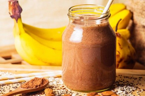 Smoothies For Kids - Banana And Almond Butter Protein Smoothie