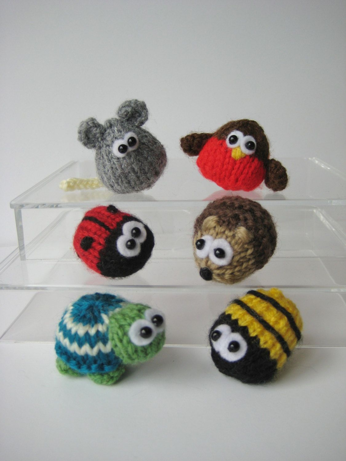Teeny animal knitting patterns six quick to knit mini toys or teeny animal knitting patterns six quick to knit mini toys or rings with instant pattern bankloansurffo Images