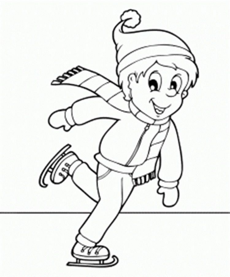 Read Moreice Skating Winter Coloring Pages For Kids Coloring