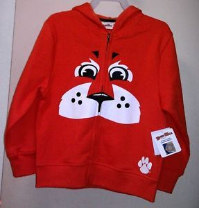 CLEMSON TIGER ZIPPERED HOODIE SWEAT JACKET NWT CUTE FACE ON JACKET!!!! EBAY $13.99