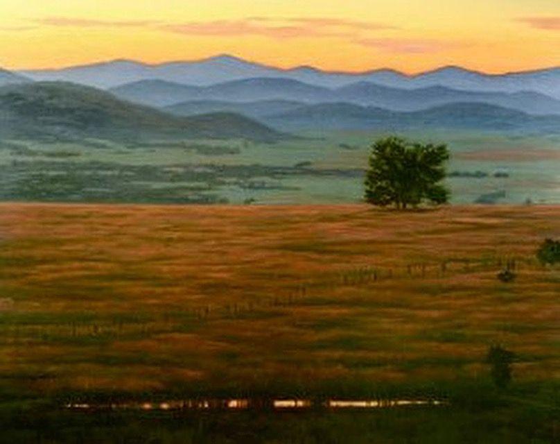 Western Landscape Original Oil Painting
