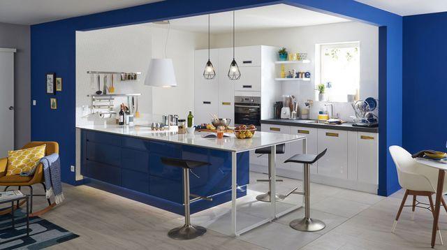 cuisine mobalpa, ambiance cottage    200 idées déco pour relooker - idee bar cuisine ouverte
