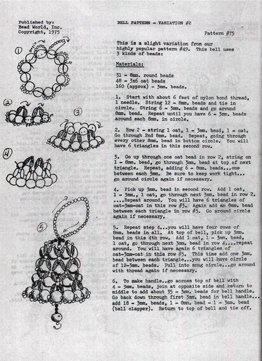 bead ornament pattern  Memories  Pinterest  Ornament Beads and