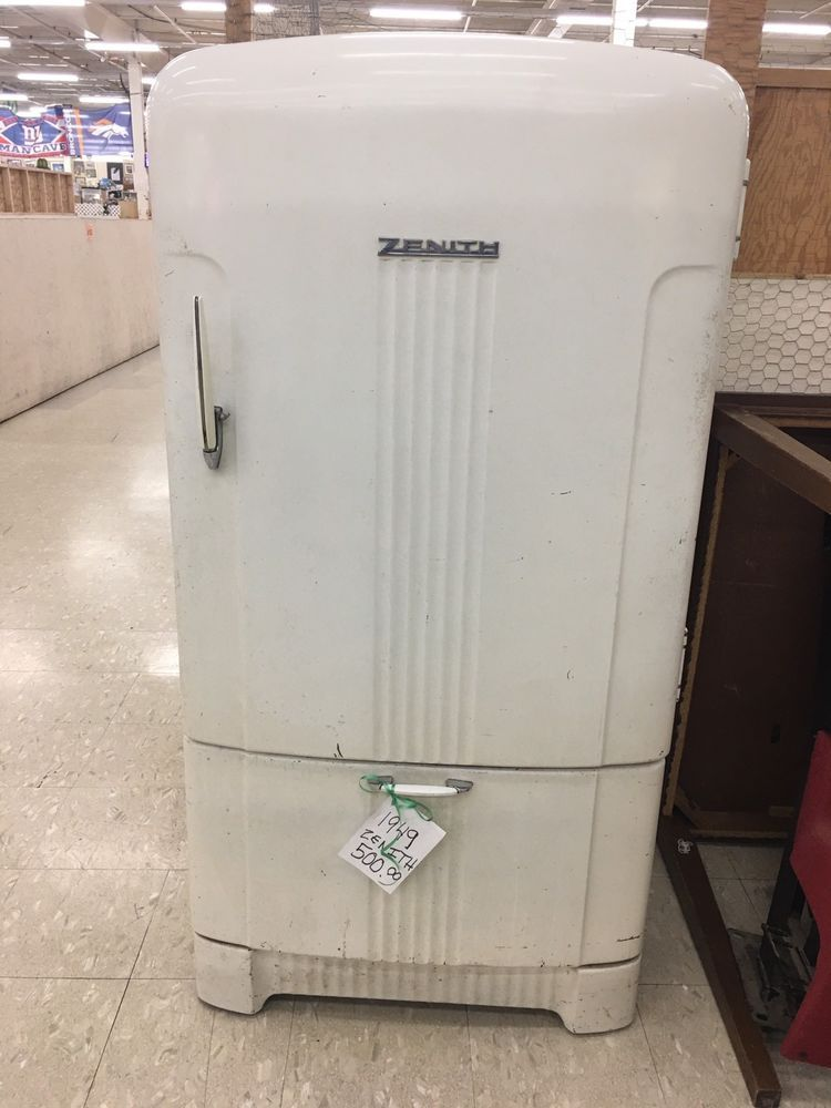 1949 Vintage Zenith Refrigerator Very Rare Collectibles Kitchen