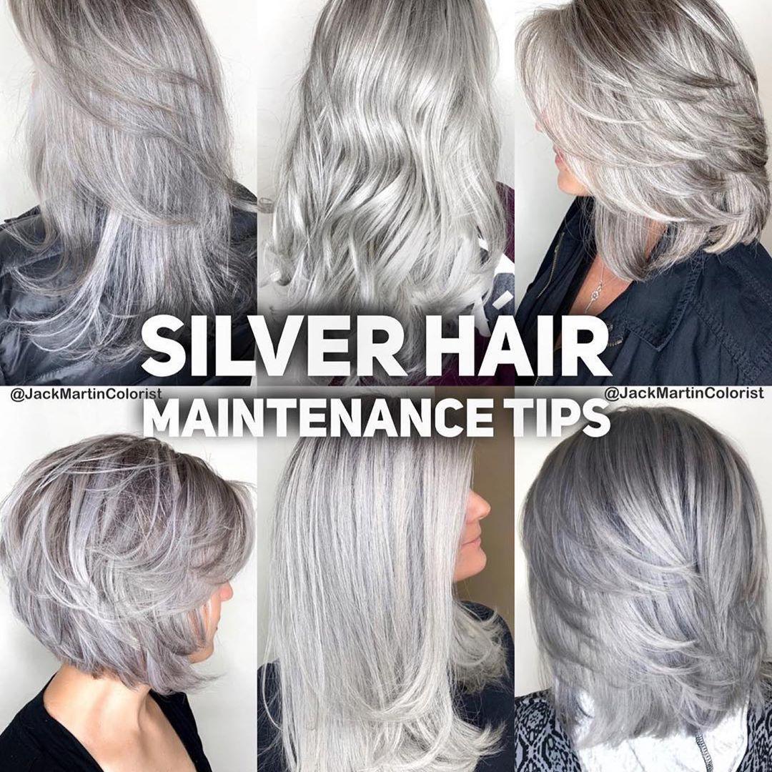 Nbsp Nbsp Goodtoknow Nbsp Nbsp Nbsp Nbsp Repost Nbsp Nbsp Nbsp Nbsp Jackmartincolorist Nbs Silver Hair Short Hair Maintenance Tips Silver Hair Dye