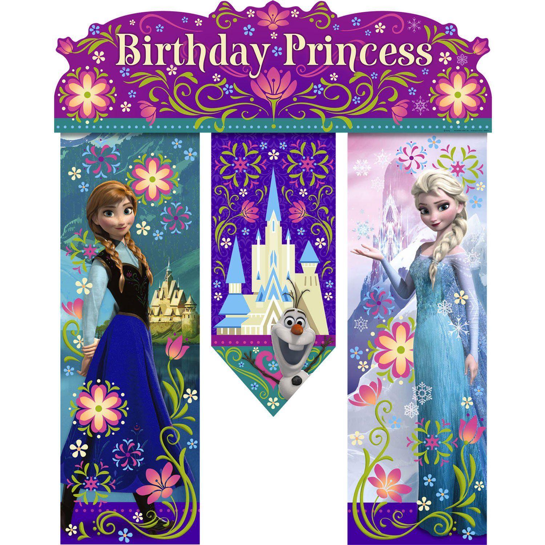 Frozen Birthday Banner Each Elsa Bday Party