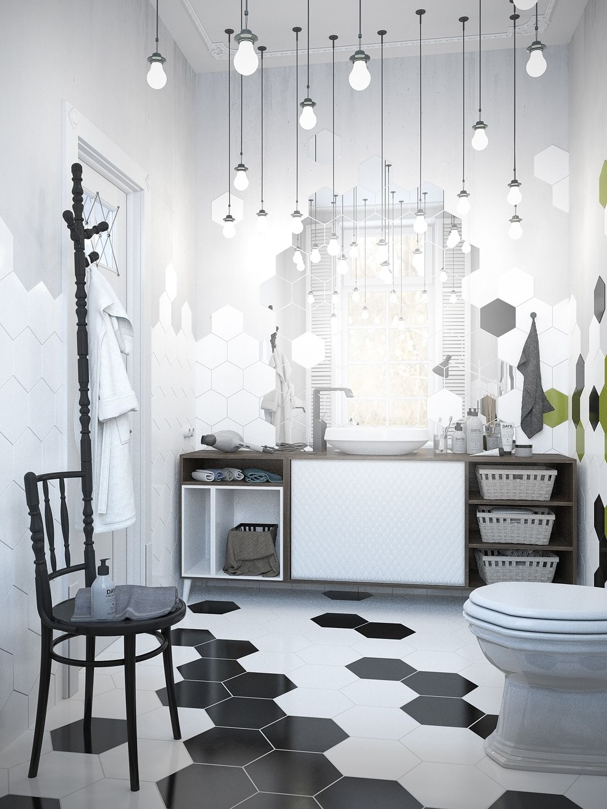 Scandinavian Bathroom Design Ideas With White Color Shade Which Can ...