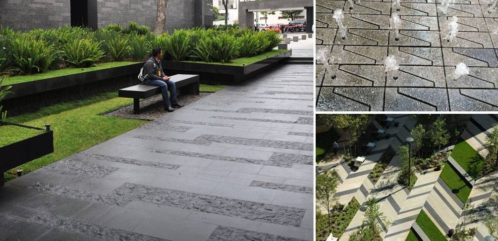 10 projects that show us how to use paving in landscape for Garden paving designs