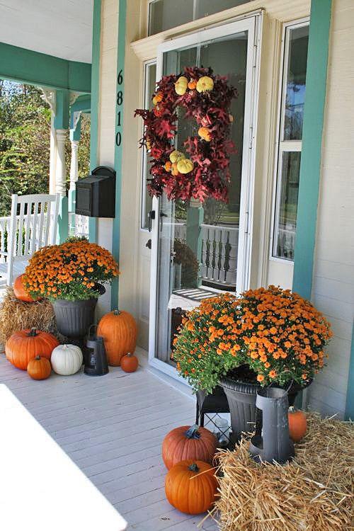 Diy Fall Front Door Decor Ideas The Garden Glove Fall Decorations Porch Fall Outdoor Decor Fall Halloween Decor
