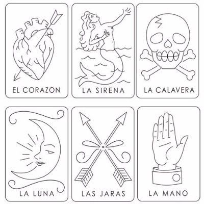 Mexican Loteria - Sublime Stitching Embroidery Pattern