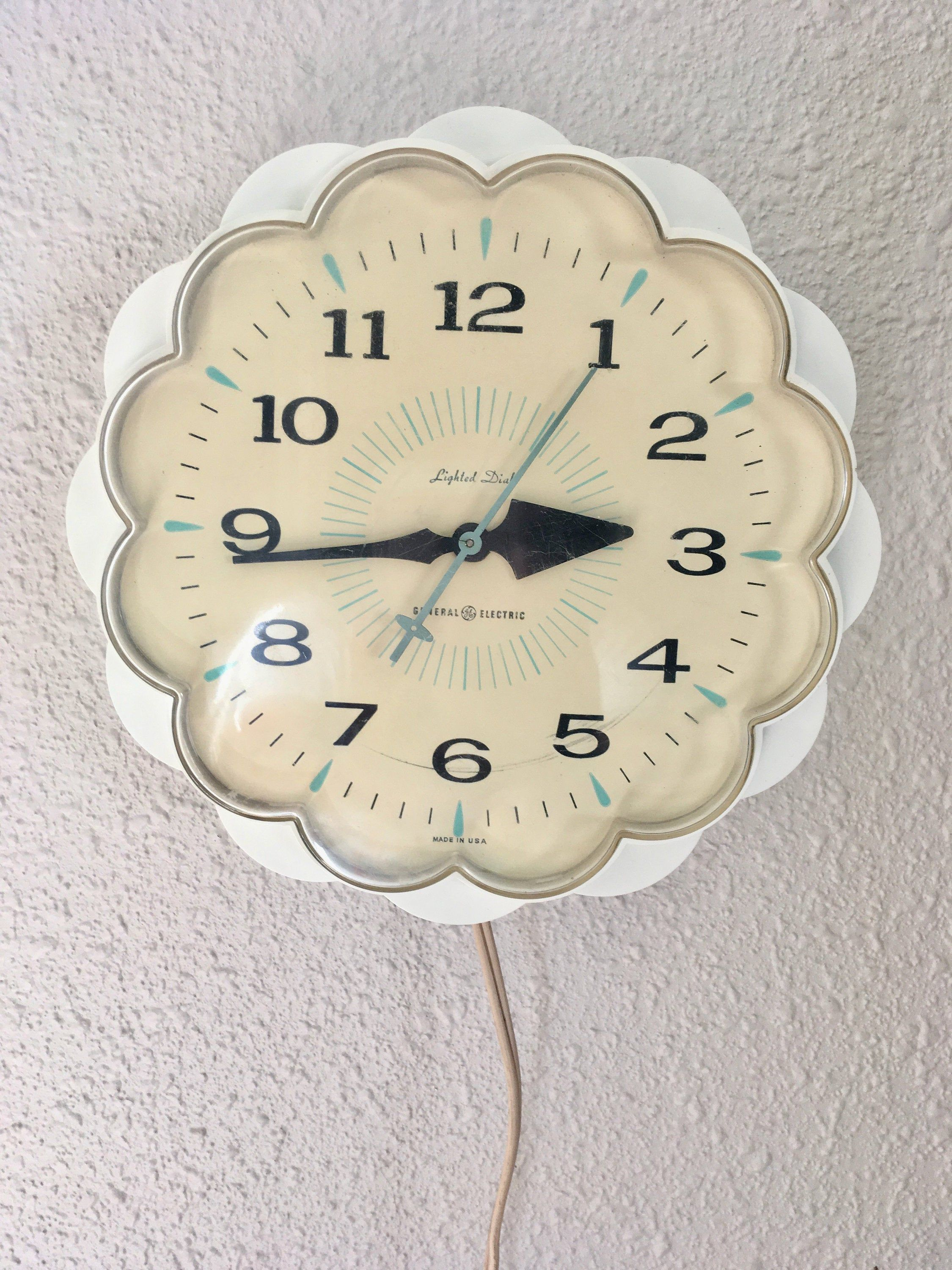 Vintage Working General Electric Kitchen Wall Clock 1960 S Clock