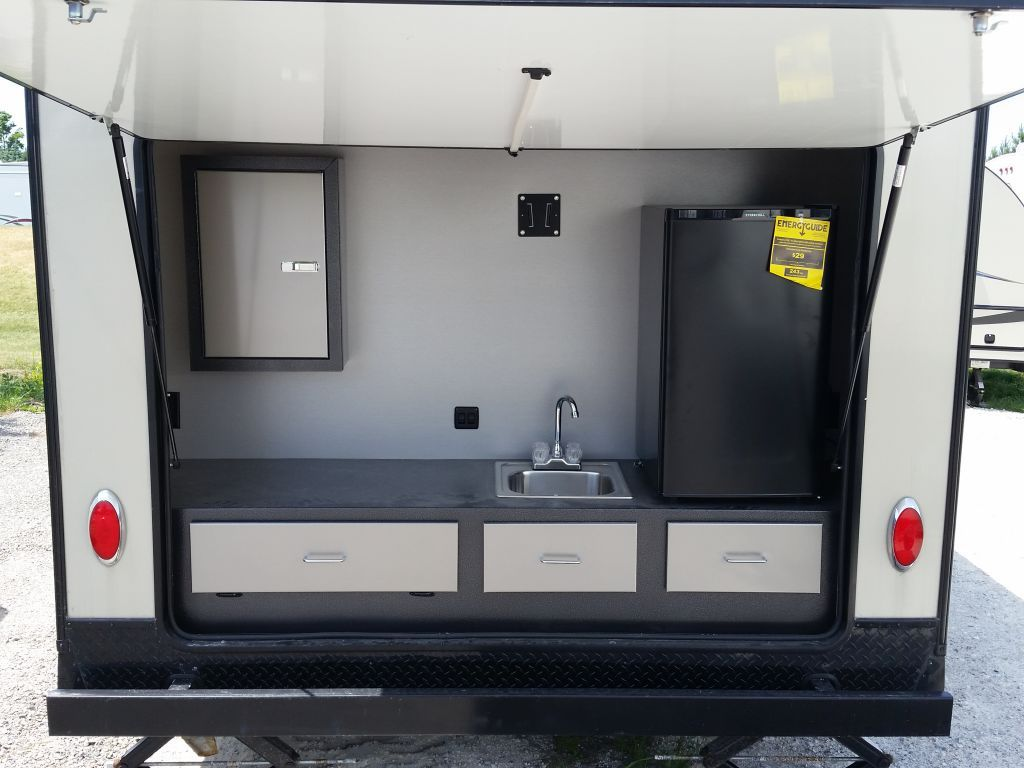 Small Travel Trailer With Outside Kitchen Telergon Co
